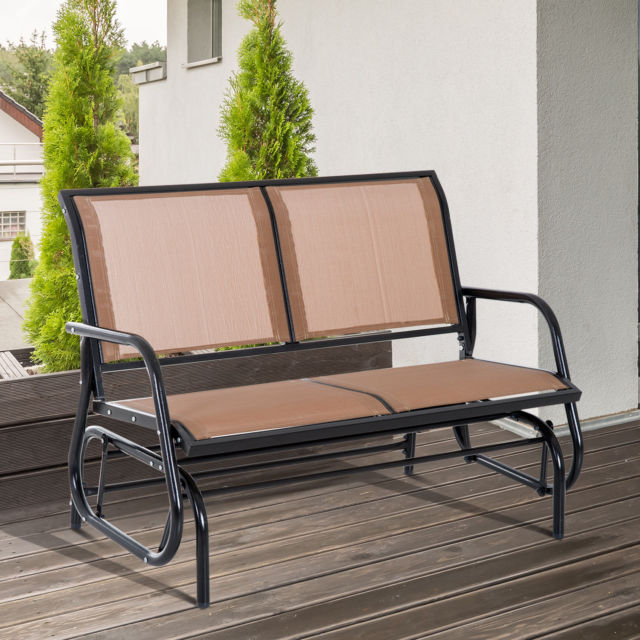 Popular Patio Seating Tan Furniture Patio Glider Clearance Outdoor With Regard To Outdoor Fabric Glider Benches (View 18 of 20)