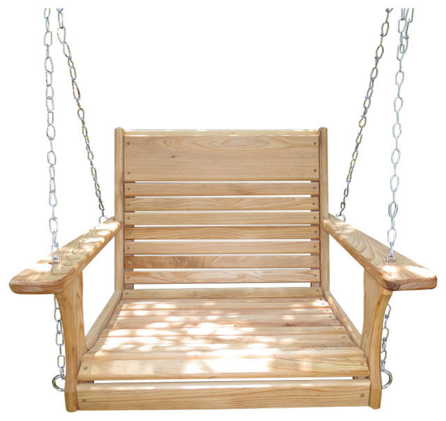 Popular Porch Swings With Chain Intended For Big Guy Adult Chair Swing With Chain Hanging Kit (Gallery 13 of 20)