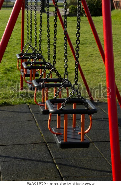 Popular Row Swing Seats On Metal Chains Stock Photo (Edit Now) 97512845 With Swing Seats With Chains (View 7 of 20)
