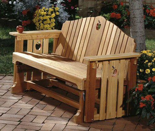 Porch Glider, Bench Woodworking Plan, Outdoor Furniture For Fashionable Hardwood Porch Glider Benches (Gallery 17 of 20)