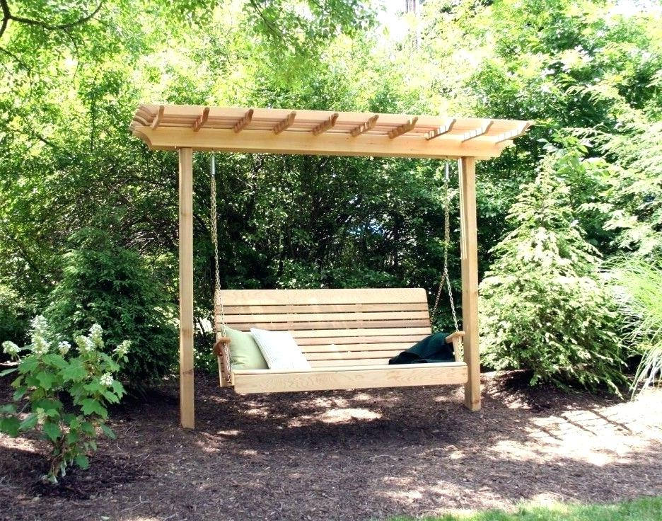 Porch Swing Arbor – Thelsf.co For Recent Pergola Porch Swings With Stand (Gallery 8 of 20)