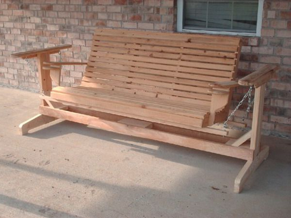 Porch Swing, Porch Swing Frame, Porch (Gallery 10 of 20)