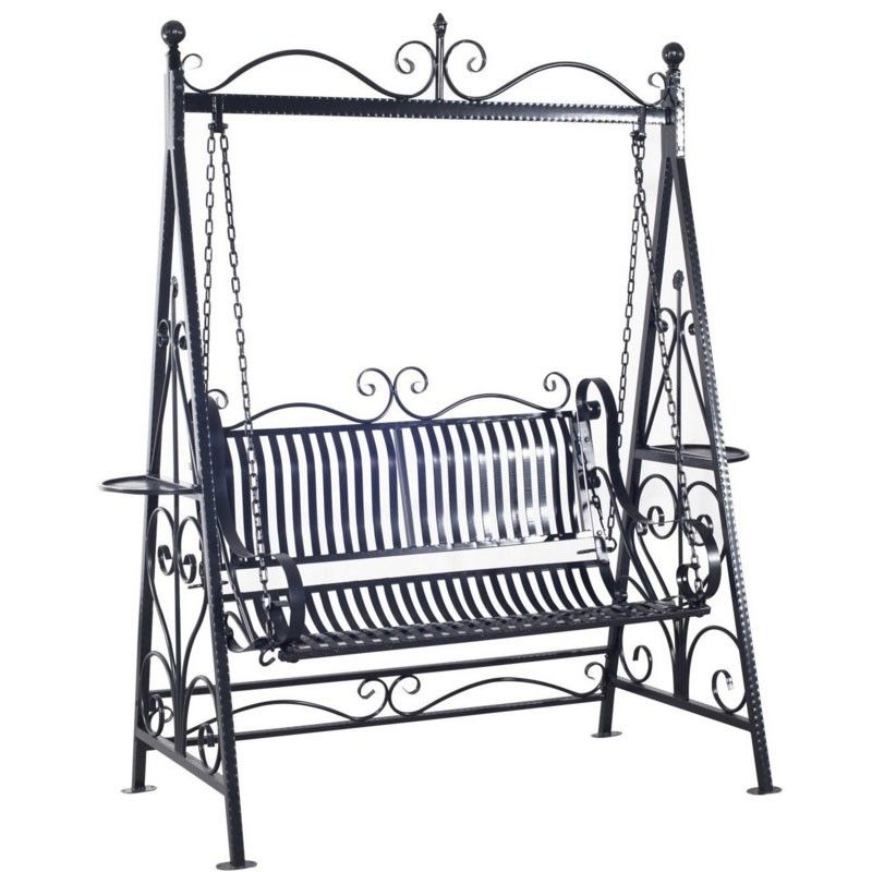 Porch Swing Throughout Popular 2 Person Gray Steel Outdoor Swings (Gallery 2 of 20)