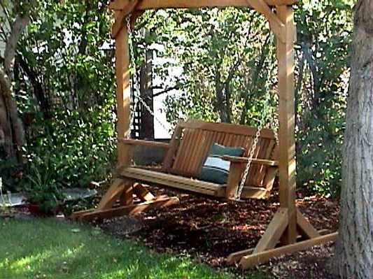 Porch Swings Buying Guide – Wood Country Regarding Popular Hardwood Hanging Porch Swings With Stand (Gallery 8 of 20)