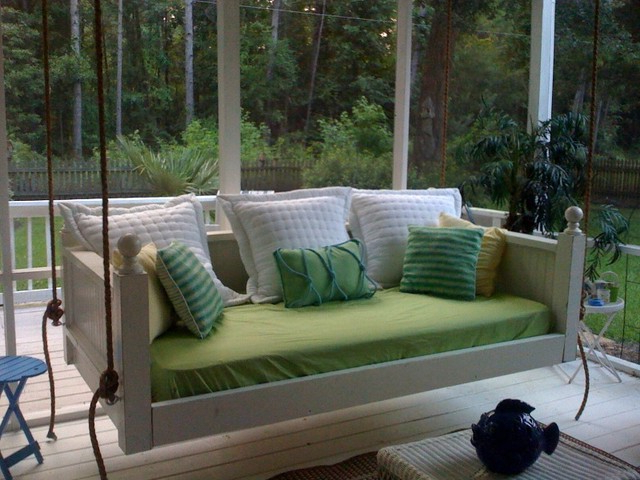 Porch Swings In Fashionable Emerson Bed Swing From Vintage Porch Swings – Charleston Sc (View 14 of 20)