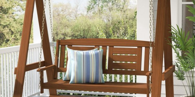 Porch Swings To Relax In Style – Decorifusta Throughout 2020 Hardwood Hanging Porch Swings With Stand (View 15 of 20)