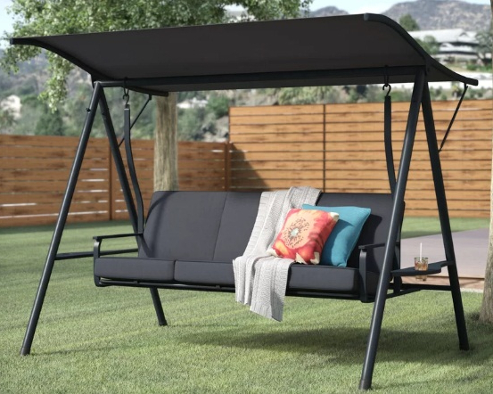 Porch Swings With Canopy Pertaining To Trendy 6+ Best Outdoor Patio Swings With Canopy Reviews (View 15 of 20)