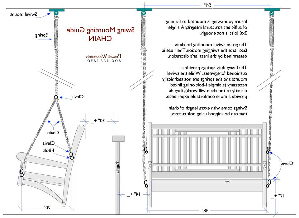 Porch Swings With Chain Inside Current Wood Swing Specifications For Prowell Woodworks (View 13 of 20)