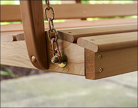 Porch Swings With Chain Regarding Most Recently Released Red Cedar American Classic Porch Swing (View 14 of 20)