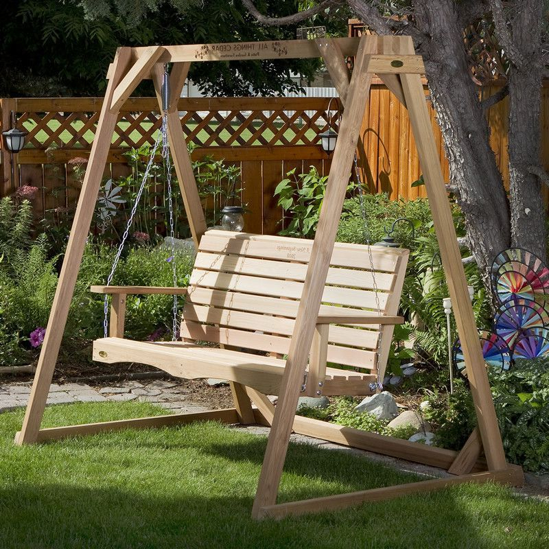 Porch Swings With Stand In Best And Newest Diy Wood Freestanding Outdoor Swing – Google Search (View 9 of 20)