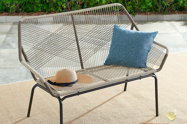 Preferred 2 Person Hammered Bronze Iron Outdoor Swings In 28 Pieces Of Outdoor Furniture From Walmart That Only Look (View 4 of 21)
