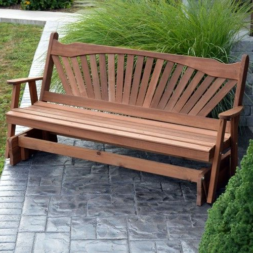 Preferred 2 Person Natural Cedar Wood Outdoor Gliders Regarding A&l Furniture Co (View 14 of 20)