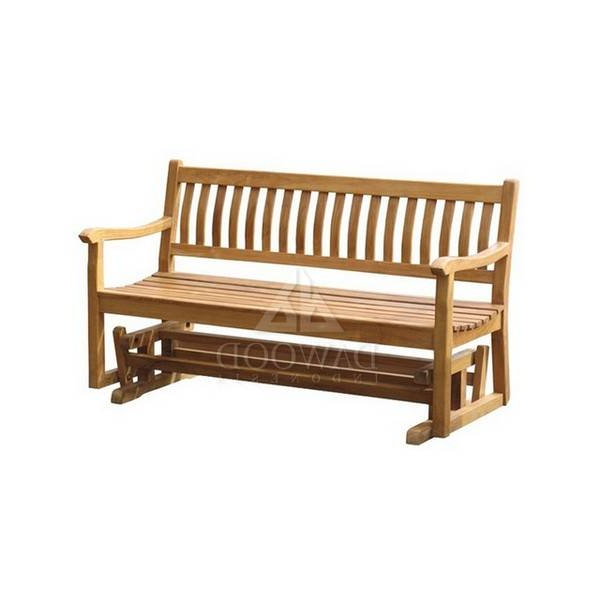 Preferred Glider Teak Bench 150 – Indonesia Furniture Manufacturer Pertaining To Teak Outdoor Glider Benches (View 10 of 20)