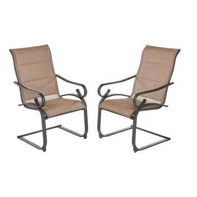 Preferred Hampton Bay Crestridge Padded Sling Outdoor Lounge Chair In Within Padded Sling Loveseats With Cushions (View 17 of 20)