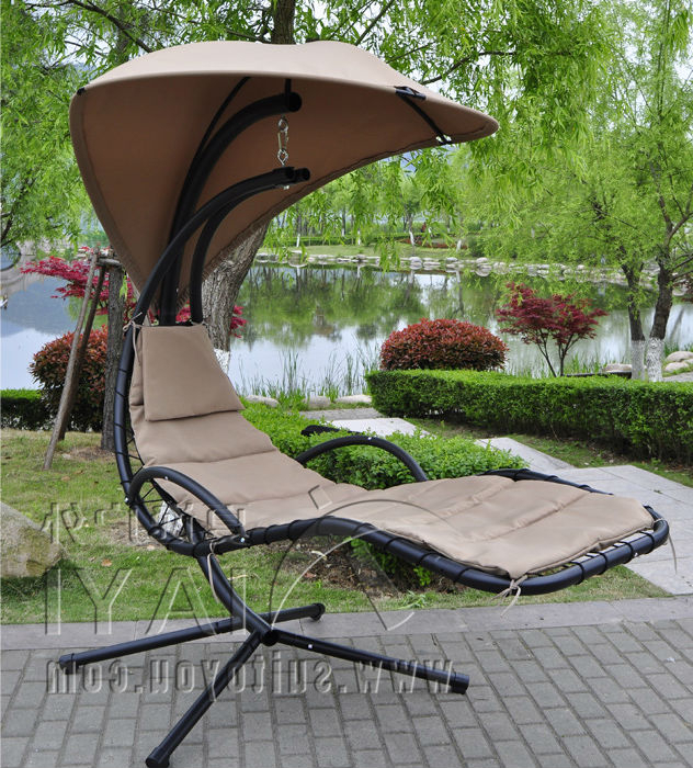 Preferred Outdoor Canopy Hammock Porch Swings With Stand For Us $ (View 17 of 20)