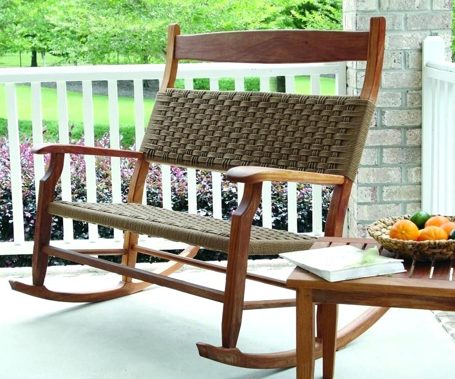 Preferred Rocking Benches With Cushions Throughout Love This Double Rocker Rocking Chairs In 2019 Rocking Chair (Gallery 5 of 20)