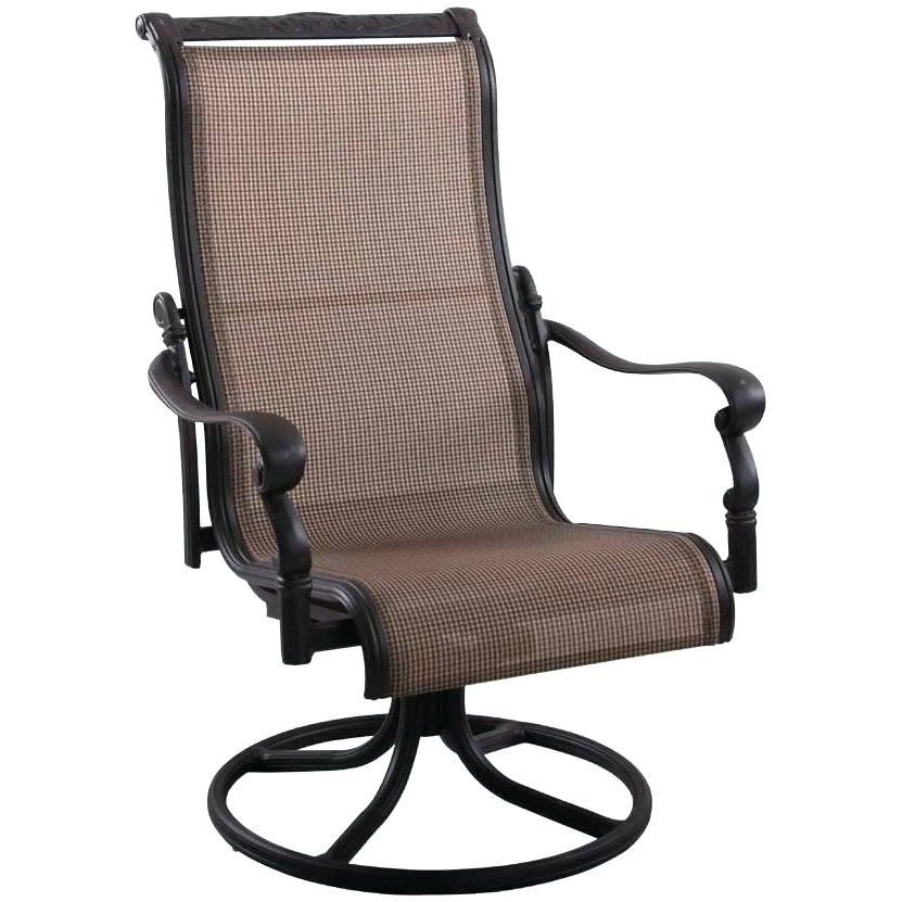 Preferred Sling High Back Swivel Chairs For High Chair Patio Furniture – Bensonandsons (View 12 of 20)