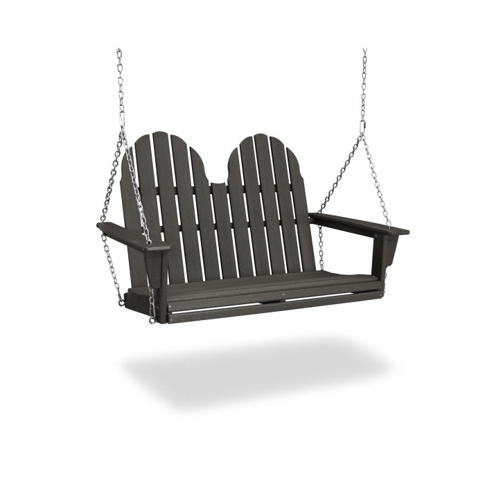 "Preferred Vineyard Porch Swings Intended For Vineyard Adirondack 48"" Swing In Vintage Finish (Gallery 7 of 20)"