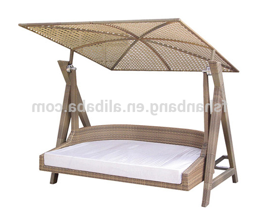 Rattan Garden Swing Chairs With Favorite Indoor Outdoor Garden Rattan Wicker Swing With Roof – Buy Swing With Roof,garden Swing,outdoor Swing Product On Alibaba (Gallery 10 of 20)