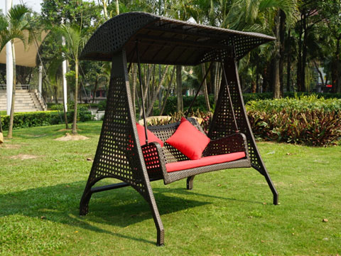Rattan Garden Swing – Rgs 006 – Majesteak Furniture Within Recent Rattan Garden Swing Chairs (View 13 of 20)