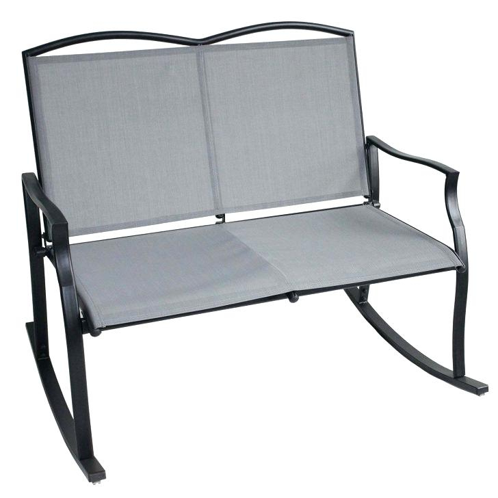 Recent Aluminum Outdoor Double Glider Benches Pertaining To Front Porch Glider Swing – Gamper (View 17 of 20)