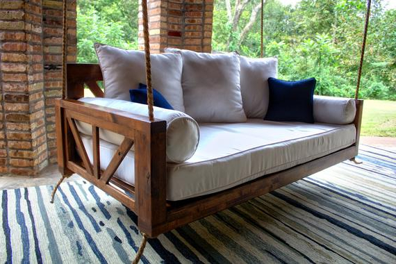 Recent Avery Wood Twin Porch Swing Bed Daybed Regarding Day Bed Porch Swings (Gallery 4 of 21)