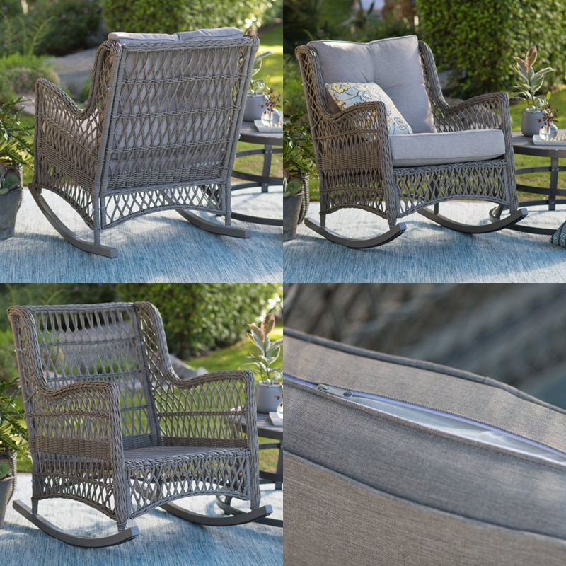 Recent Bristol Porch Swings Inside Lorevitpew: Bristol Outdoor Rocking Chair With Cushions (View 12 of 20)