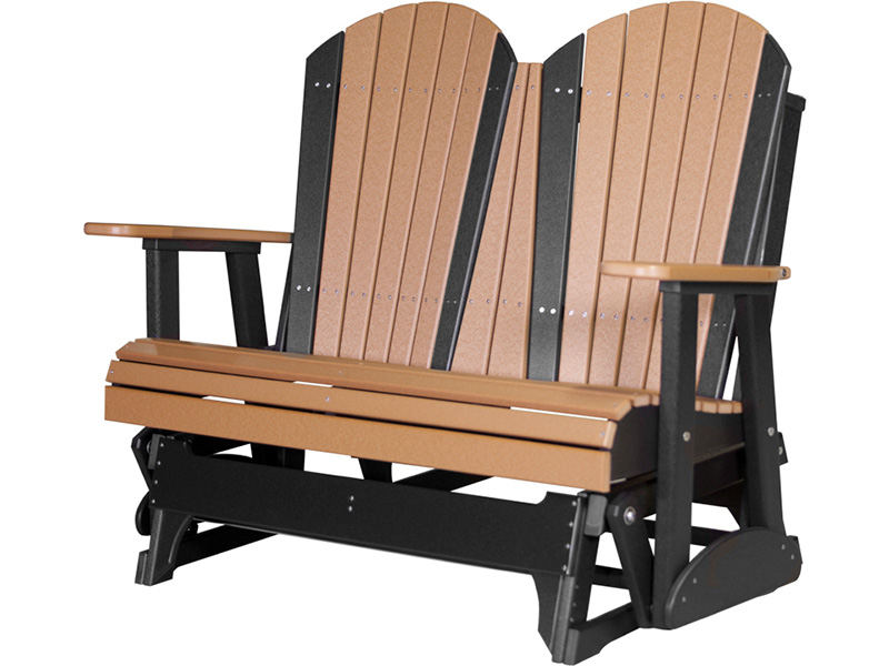 Recent Classic Adirondack Glider Benches Intended For 4' Adirondack Glider – Stutzmans Amish Furniture (View 20 of 20)