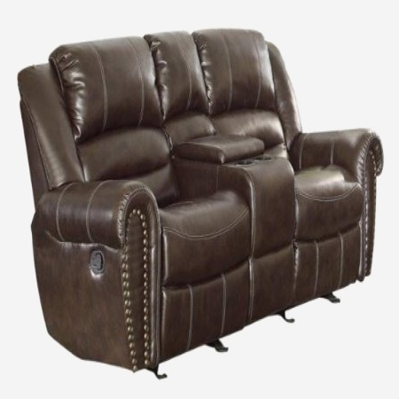 Recent Homelegance 9668brw 2 Double Glider Reclining Loveseat For Regarding Double Glider Loveseats (View 4 of 20)