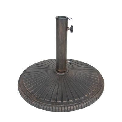Recent Island Umbrella 80 Lb. Classic Cast Iron Patio Umbrella Base For 2 Person Hammered Bronze Iron Outdoor Swings (Gallery 14 of 21)