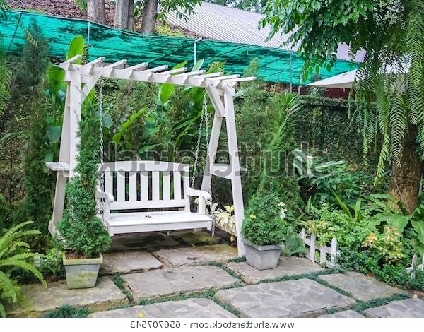 Recent White Wooden Porch Swing Swings Compressed N Wood Classic Regarding Casual thames Black Wood Porch Swings (View 15 of 20)