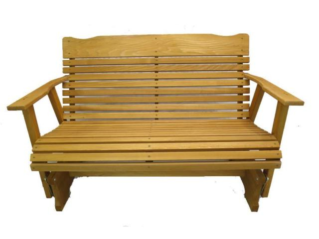 Recent Wood Glider Bench Outdoor Patio Furniture Garden Deck Rocker Porch Amish  Crafted Intended For 2 Person Natural Cedar Wood Outdoor Gliders (View 16 of 20)