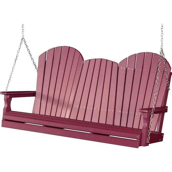 Recycled Plastic Porch Swing – Pomicultura Intended For Best And Newest Plain Porch Swings (View 14 of 20)