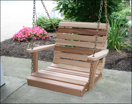 Red Cedar American Classic Porch Swing With Latest Classic Porch Swings (View 10 of 20)