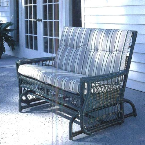 Rocking Benches With Cushions Throughout Recent Patio Glider Cushions Browsefurniture Loves On Com (View 2 of 20)