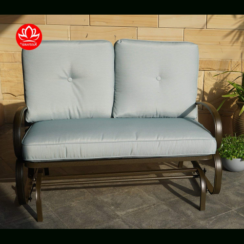 Rocking Love Seats Glider Swing Benches With Sturdy Frame With Fashionable Patio Swings (View 18 of 20)