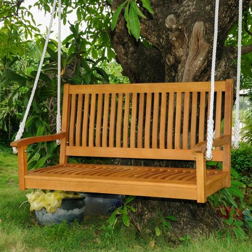Royal Tahiti 2 Person Light Teak Oil Wood Outdoor Swing Regarding Recent 3 Person Light Teak Oil Wood Outdoor Swings (View 4 of 20)
