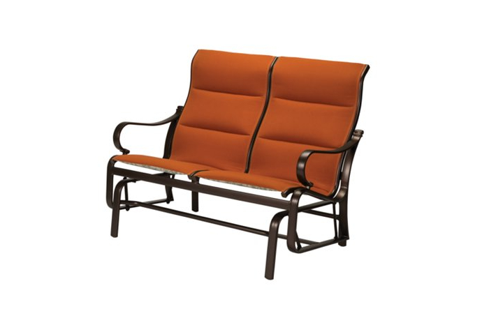 Sling Double Glider Benches For Best And Newest Torino Padded Sling Double Glider High Back – Hauser's Patio (View 14 of 20)