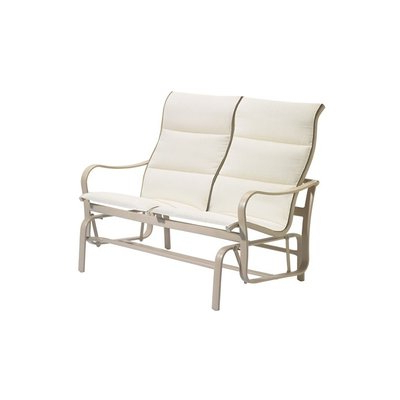 Sling Double Glider Benches Pertaining To Fashionable Tropitone Shoreline Padded Sling Double Glider Bench Finish (View 3 of 20)