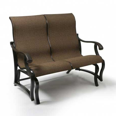 Sling Double Glider Benches With Best And Newest Mallin Volare Sling Double Glider Outdoor Furniture (View 19 of 20)
