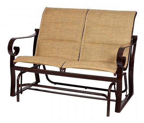Sling Double Glider Benches With Recent Belden Padded Sling Double Gliderwoodard – Aminis (View 4 of 20)