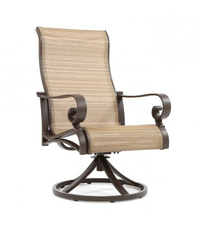 Sling High Back Swivel Chairs Pertaining To Trendy Sunvilla Riva Sling High Back Swivel Rocker (View 13 of 20)