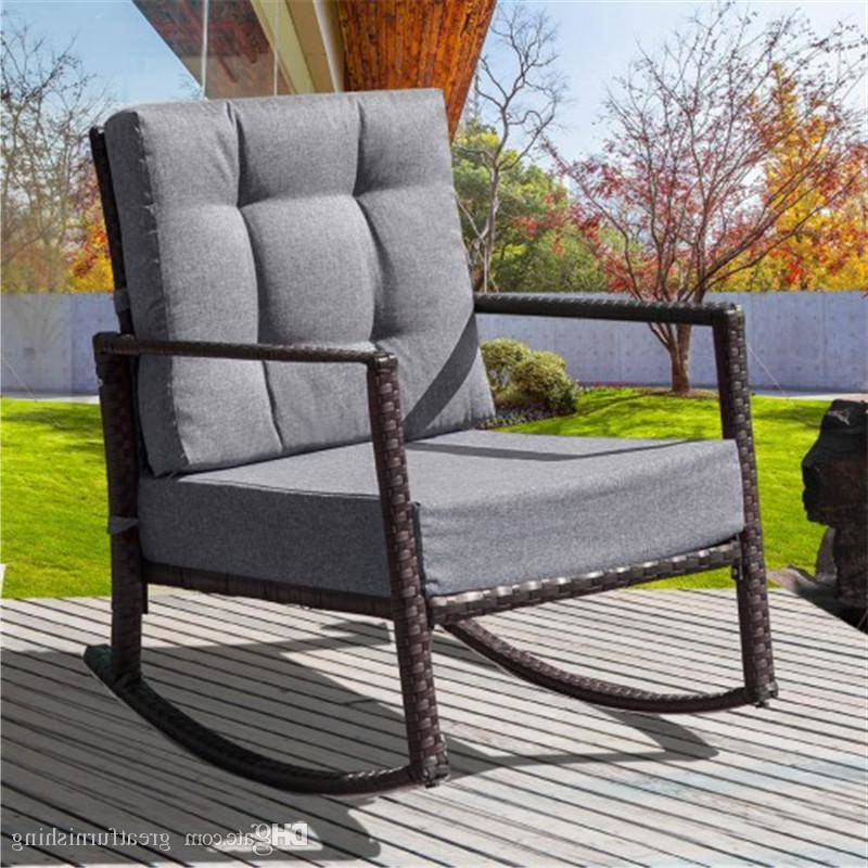 Small Outdoor Patio Furniture Sets Wicker Chair Set Table With Well Known Cushioned Glider Benches With Cushions (View 19 of 20)