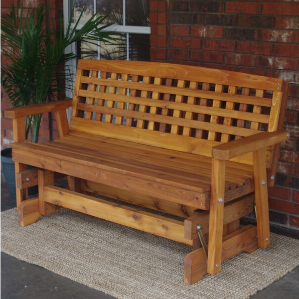 Swing Chair Outdoor Traditional English Cedar Glider Chair With Well Known Traditional Glider Benches (View 9 of 20)