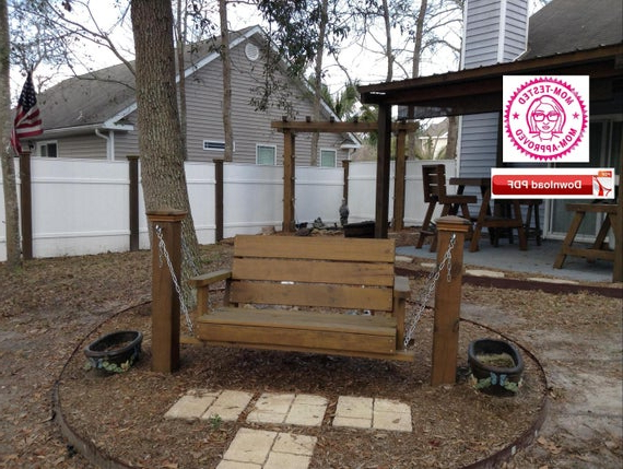 Swing Plan/yard Swing Plan/patio Swing Plan/porch Swing Plan/wood Swing  Plan/swing Pattern/garden Swing Plan/lawn Swing Plan/pdf Plan/pdf With Regard To Famous A4 Ft Cedar Pergola Swings (View 18 of 20)