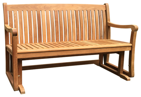 Teak Glider Benches For Well Known Teak Gliding Bench, 5' Grade A (View 5 of 20)
