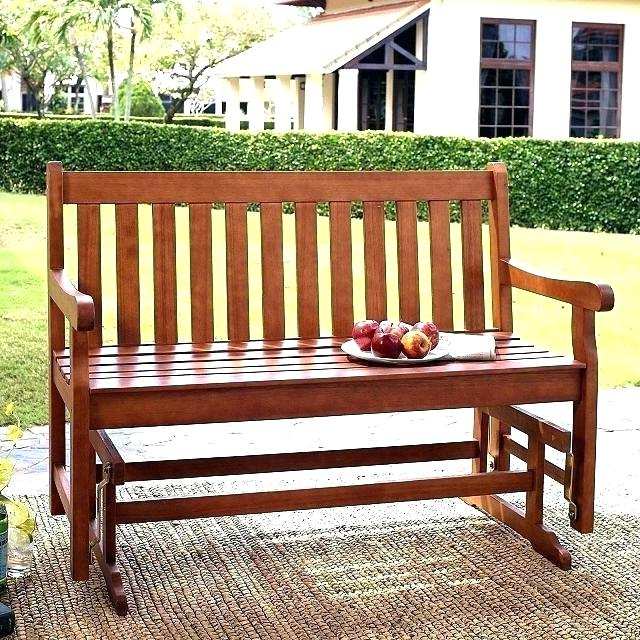 Teak Outdoor Glider Benches Throughout Most Recently Released Outdoor Glider Bench Costco Patio Decorating Ideas For (View 5 of 20)