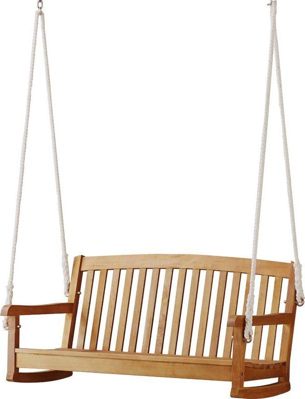 Teak Porch Swings Regarding Well Liked Portland Teak Porch Swing In (View 18 of 20)