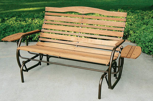 Top 10 Best Outdoor Glider Benches Reviews In 2020 In Fashionable 2 Person Natural Cedar Wood Outdoor Gliders (View 17 of 20)