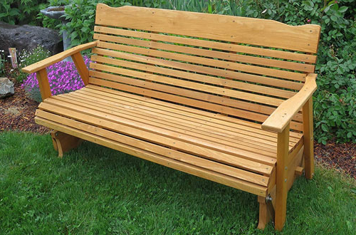 Top 10 Best Outdoor Glider Benches Reviews In 2020 Intended For 2020 2 Person Natural Cedar Wood Outdoor Gliders (View 18 of 20)
